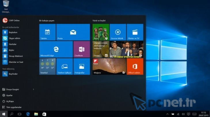 Windows 10 Bildirim Sekmesi